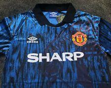 Manchester United XXL BNWT Blue Away Shirt 1992 1993 1994 Man Utd Sharp Umbro