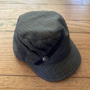 Goorin Brothers Bros Cadet Monte Hat Cap Sz X Small XS Military Grey Wool
