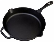 Victoria Cast Iron 12 Skillet Fry Pan, Seasoned, Large, 12 Inch