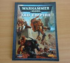 Warhammer 40k Codex Tau Empire Games Workshop Book VCG Free UK P&P