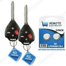 2 Replacement for 2010 2011 2012 2013 Toyota Corolla Key Keyless Entry Remote
