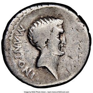 Ancient Coin Marc Antony as Triumvir / Imperator 43-31 BC AR denarius NGC VG