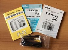 MANUALI MULTILINGUA ITA Nikon CoolPix P1 P2 Digital Camera Owner Manual+ CAVO TV