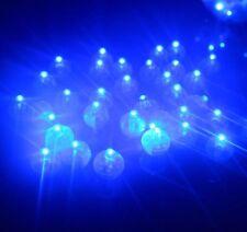 5 x Individual Blue LED Lights, Tiny, Wireless, Battery, Craft, Glow, Cake