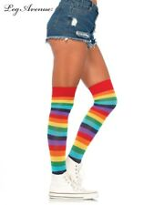 Rainbow Striped Thigh High Stockings - Adult, One-Size