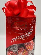 Lindt LINDOR Milk Chocolate Gift Box Truffles - 6.8 oz 16 pcs Sealed With Bow