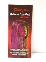 Vintage Ripley's Believe It Or Not Museum In San Francisco Advertising Brochure