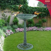 Birdbath 28 Height Pedestal Bird Bath  Outdoor Garden Decor Vintage Yard Art
