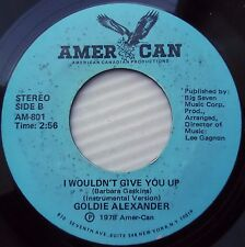 GOLDIE ALEXANDER 45 I wouldn't give you up pt.1 / pt.2 AMER-CAN 1978 disco e7303