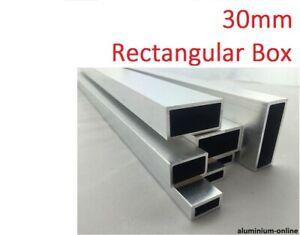 ALUMINIUM RECTANGULAR BOX SECTION 30mm, lengths 100mm - 2500mm/2.5m