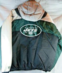 NFL New York Jets Zip-Up Hooded Jacket size Men's Medium