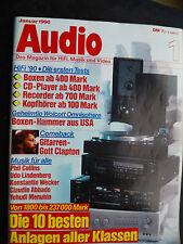 AUDIO 1/90. TRESHOLD SA 400,AIWA AD F 800,TEAC V 680,TECHNICS RS B755,BRAUN RM 5