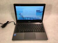 "Acer Chromebook C720P 11.6"" Touchscreen Laptop Intel 1.4GHz 4GB RAM 16GB SSD"