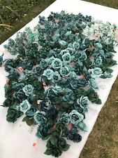 166 Vtg Wedding Millinery Hat Corsage Green Teal Rose Pearl Ombre Spray Nos Lot