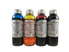 4PK Edible Ink Refill Kit for Canon Epson Brother Printers 4x100ml Ink Bottles