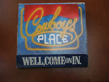 """1999 Marlboro Ad Cowboy's Place Giant Faux Matchbook w/ Red 6"""" Bottle Opener"""