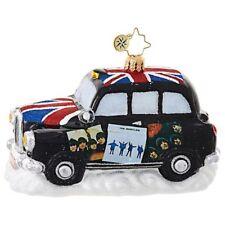 "Radko Beatles Album Cover Cab 3 1/2""x5"" Beatles Ornament 1019043 NWT"