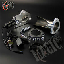 "2"" 51mm Electric Stainless Exhaust E-Cut Cutout Pipe with Switch Control Kit"