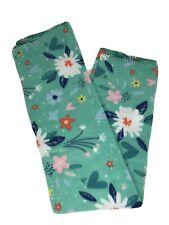 "Mainstays Fleece Throw Blanket 50"" x 60"" Green Floral"