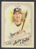 Topps - Allen & Ginter 2018 - Base # 246 Travis Shaw - Milwaukee Brewers