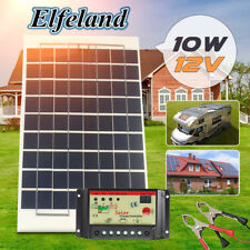 10W Watt 12V Solar Panel Module Battery Charger +10A Controller+ Cable SET