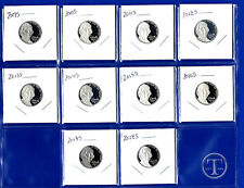 2009 S Through 2018 S Jefferson Nickel Set-Gem Proof-IN STOCK-Ten Proof Nickels