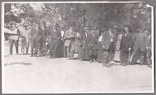 VINTAGE 1911 ZOCALO MAIN SQUARE IN MEXICO CITY MEN WOMEN HAT FASHION OLD PHOTO