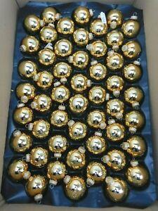 20 Christmas/Christmas Tree Ball Glitter 2in Diameter Gold - Matte with Star