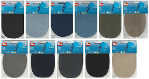Prym 2 x Oval Patches Mending Mend Patch Repair Iron On Various Colours New