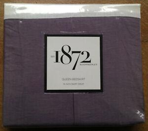 "NewBloomingdale's 1872 Harlow Queen Bedskirt, 16"" Skirt Drop, Purple"