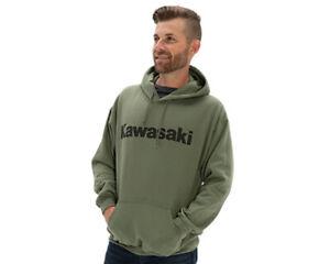 Kawasaki Logo Pullover Hooded Sweatshirt Olive Green K001-1299-OL