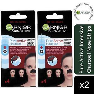 2 Pack Garnier Pure Active Intensive Anti Blackhead Charcoal Nose Strips