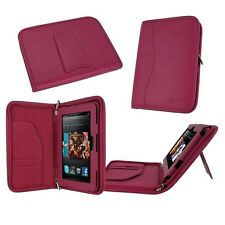 "rooCASE for Amazon Kindle Fire HD 7"" 2012 Executive Leather Case Magenta Lot C10"
