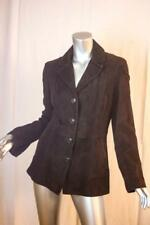 Womans COLE HAAN Chocolate Brown Goatskin Leather Jacket Size M