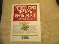odd size 11- 8.5'' eswat jr kit  sega   ARCADE GAME FLYER