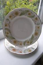 Duchess Greensleeves Dessert Plates x 2 China 1st Quality Green & Gold British