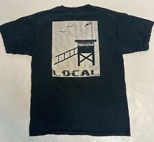 vintage surf local respect my beach graphic t shirt med/large black