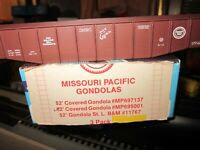 MISSOURI PACIFIC 50'railroad  COVERED gondola  KIT car 1/87 walthers ATHEARN