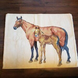 Karastan Rug Horse Thoroughbred Pony 2607 Cotton 3' x 4' Wall Hanging