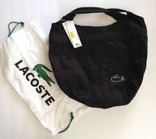 Lacoste black outline crocodile logo large tote Shopping Bag NWT $140