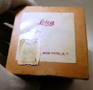 """Empty Box for Leica Leitz small accessory 2X2.5"""" vintage NY 66718a New York"""