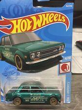 New ListingHot Wheels Custom Super Treasure Hunt '71 Datsun 510 Kmart Black Real Riders