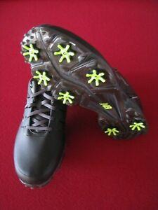 New Balance Men's NBG2004 Waterproof Spiked Golf Shoe - Black/Green, 11.5 M