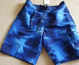 Calvin Klein Swim Wear Short for Men Blue Palm Print size Medium     W 46