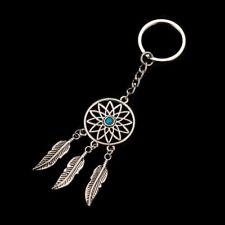 Fashion Dream Catcher Tone Key Chain Silver Ring Feather Tassels Keyring Keychai