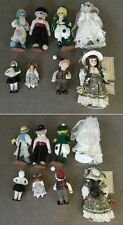 """Vintage Lot of 8 Dolls, 16"""" Newly Wed Bears, and Troll - Angelina, Caroler, ."""