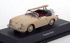 Porsche 356 Cabrio,Surfboard, Beige , Schuco 1/43