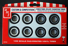 AMT 002 FIRESTONE DE LUXE CHAMPION VINTAGE White Wall tires, 1:25