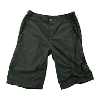 Columbia Women's Outdoor Shorts Size 30W 12L Light-Weight Olive Green Pocket