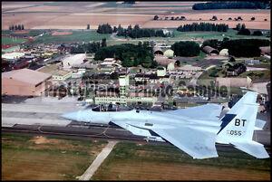 USAFE F-15 Eagle Over Bitburg Air Base 1986 8x12 Photo